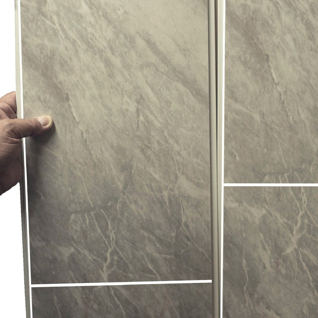 Grey Marble Bathroom Wall Panels Tile Effect Cladding Used In Kitchen, Office Ceiling And Walls