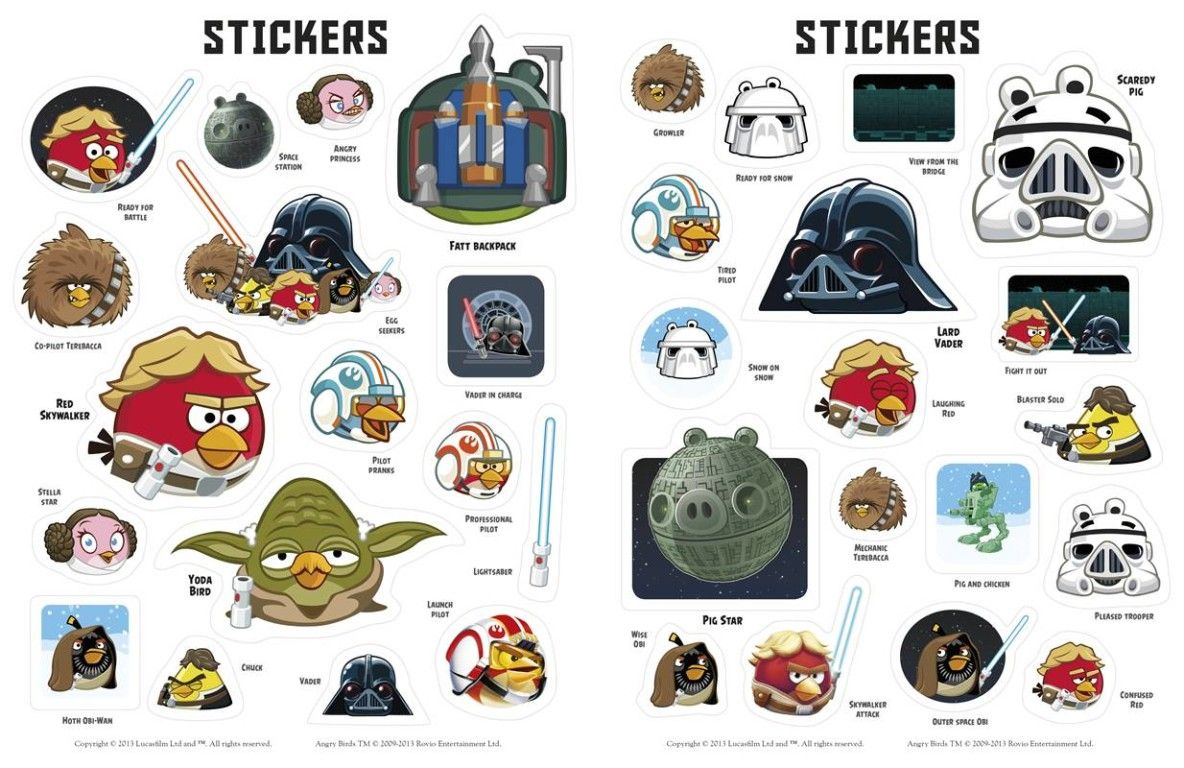 Toppers Personagens Angry Birds: Angry Birds Star Wars 2 Characters