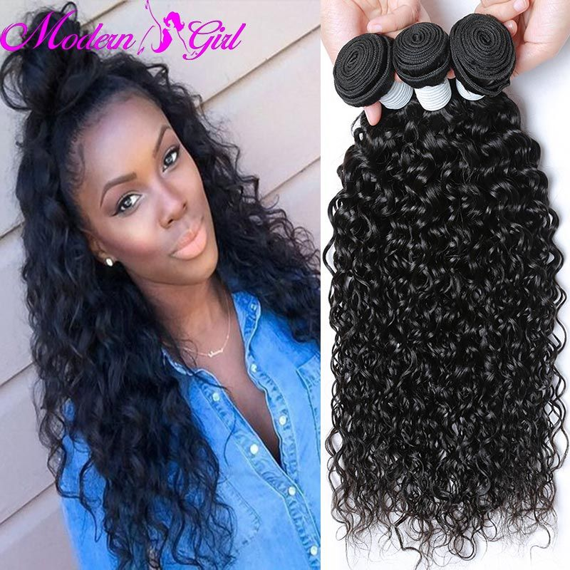 Peruvian Water Wave Weave Ocean Wave Virgin Hair 3 Bundles Peruvian