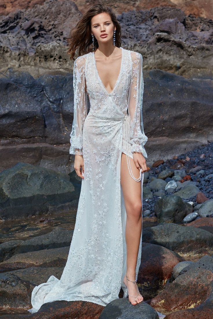 Bring the wrap dress #trend into bridal with the #GALA1017. A ...