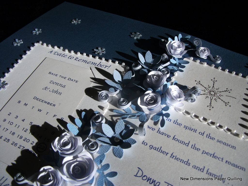 A Winter Snowflake Theme Accents This Paper Quilled And Framed