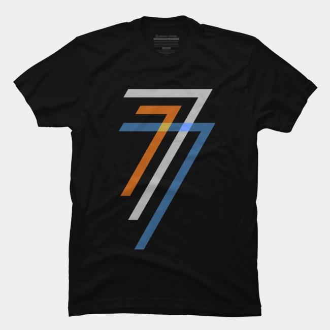 Lucky 7 T Shirt By Hkartist Design By Humans New T Shirt Design