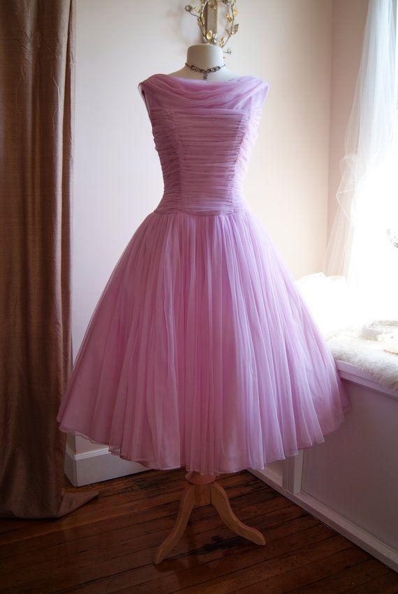 Excepcional Vestidos De Dama 1950 Galería - Ideas de Vestidos de ...