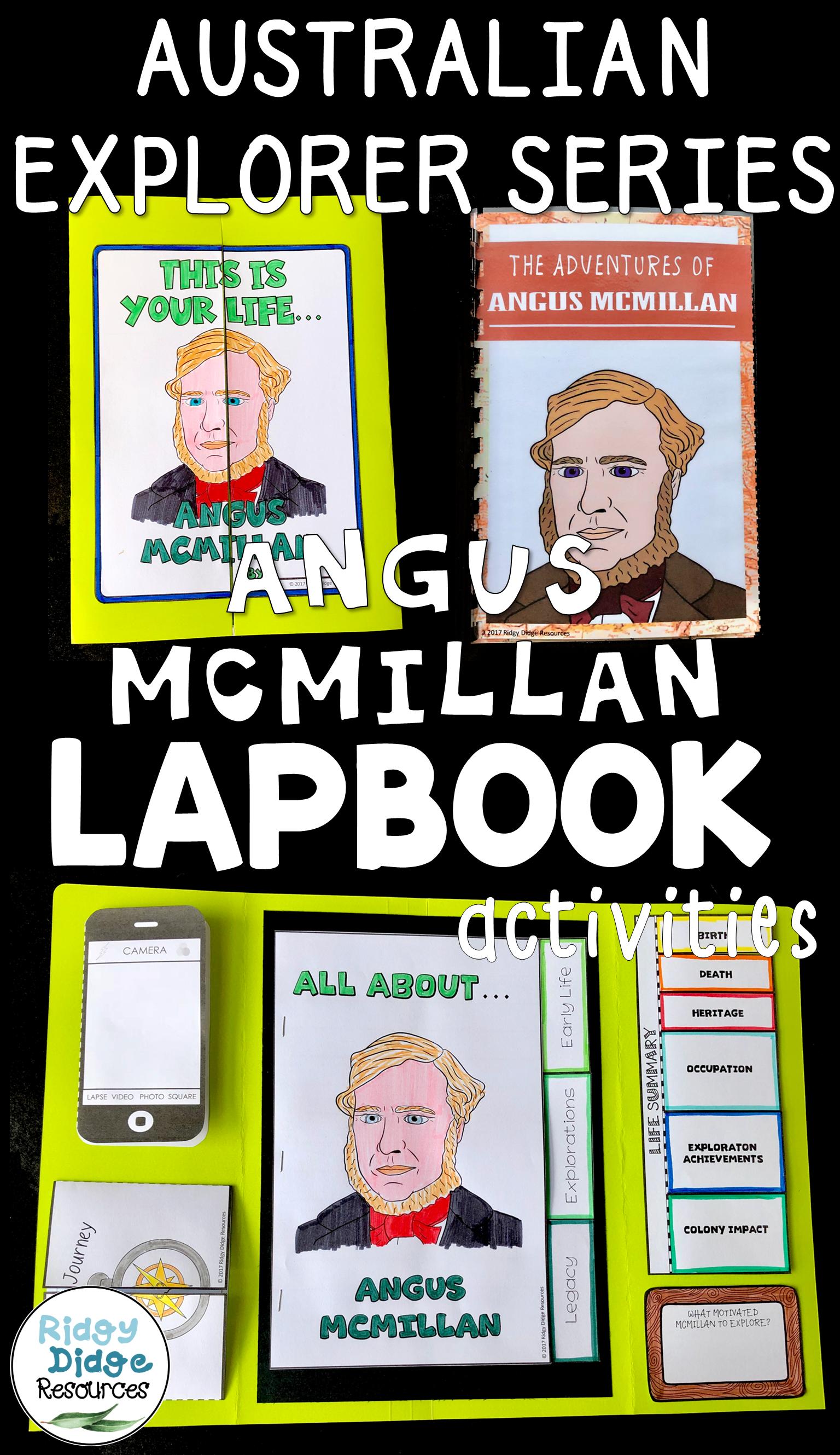 Angus McMillan Australian Explorers Lapbook Series