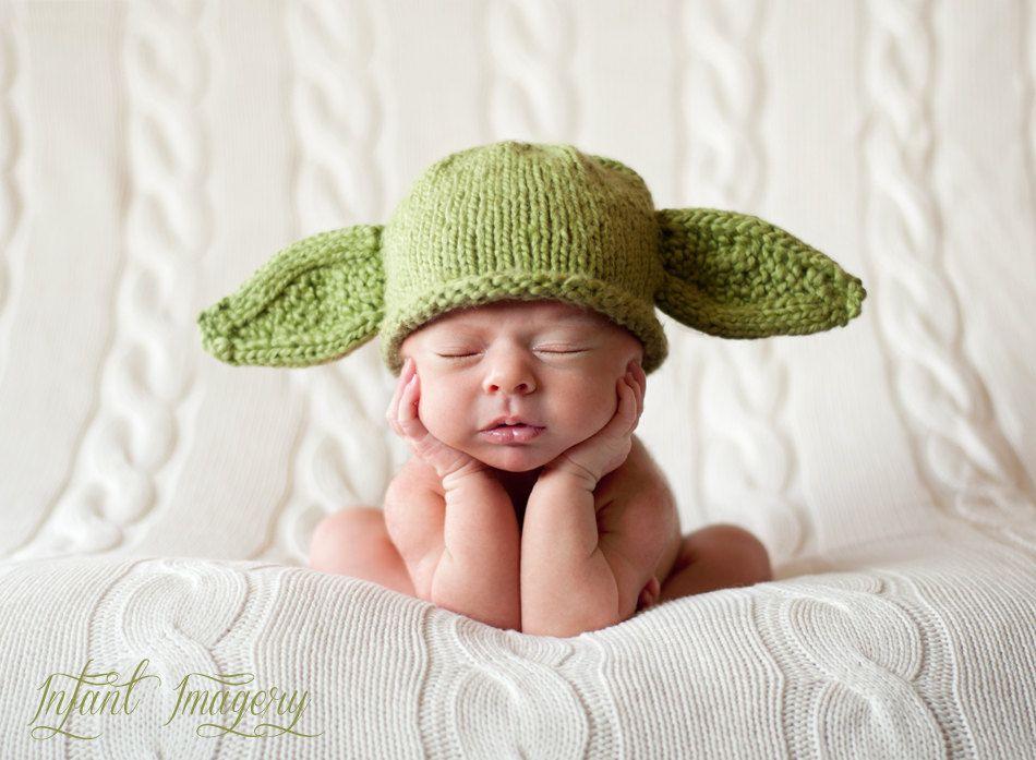 Knit Yoda Hat Pattern - Baby Yoda Hat Pattern - Yoda Hat Knitting ...
