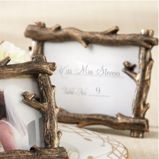 """""""Scenic View"""" Tree Branch Place Card Frame / Photo Holder Favors #daisydays #wedding #lovebird #dove"""