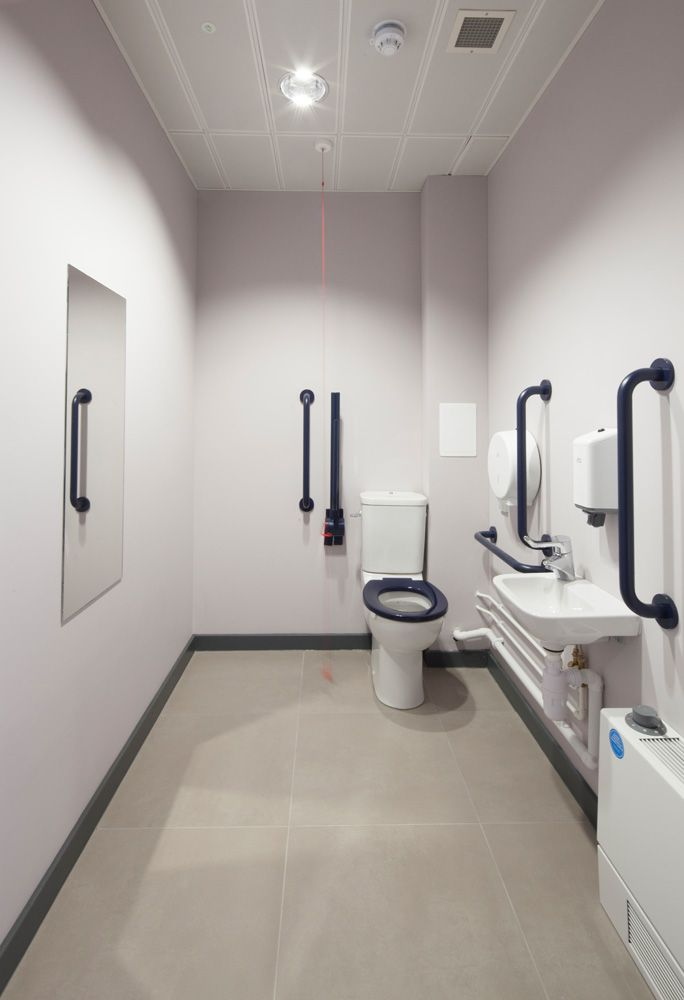 Commercial Office Bathroom And Toilet Disabled Access
