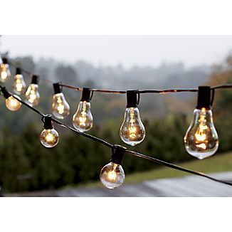 Dress Your Patio With Warm Look Of Vintage Bulbs. Yesteryear Inspired String  Lights Line Up Uniquely Shaped Glass Bulbs With Exposed Filaments Inspired  By ...