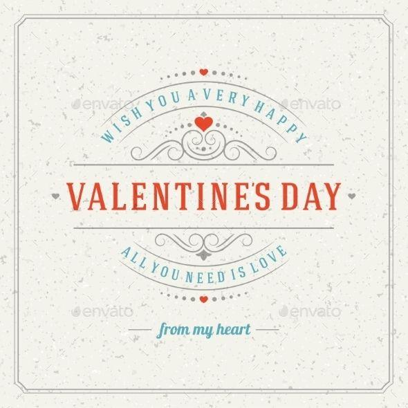 Happy Valentine's Day Greeting Card or Invitation