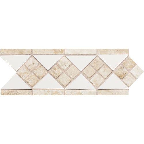Daltile Ceramic Tile Borders 0100 White Clic Trav Dal Decorative Border Liner