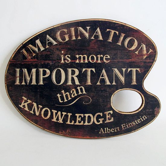 Imagination is the more important than knowledge Albert