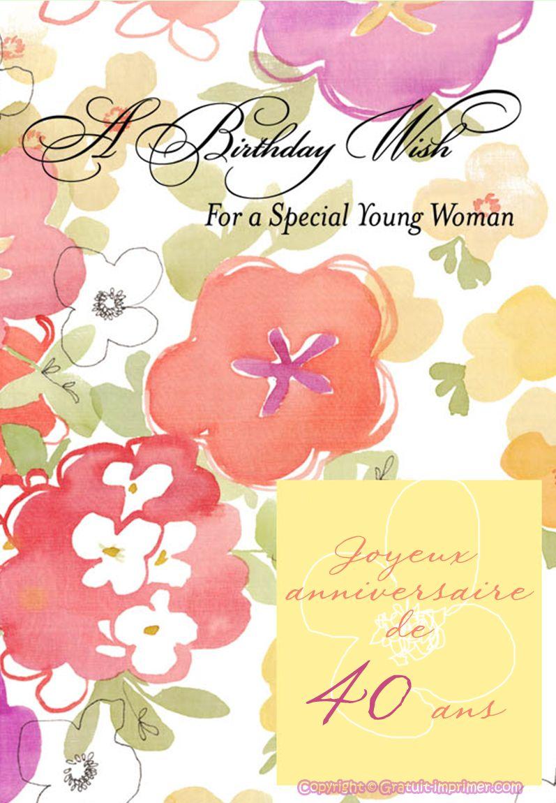 modele carte invitation anniversaire adulte gratuite a imprimer Pin di invitation