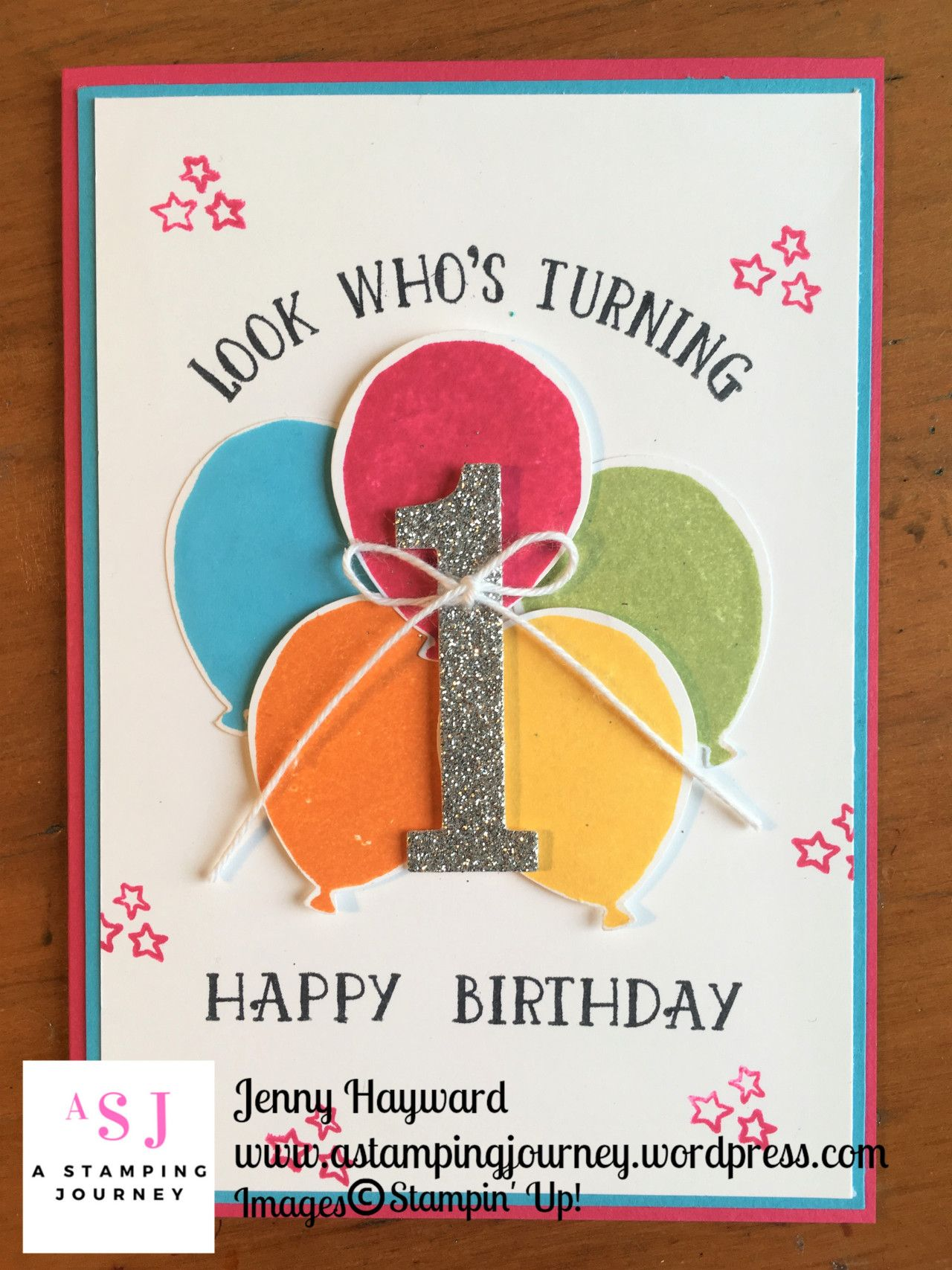 One Year Old Birthday Card With Number Of Years Stamp Set And Large Numbers Framelits