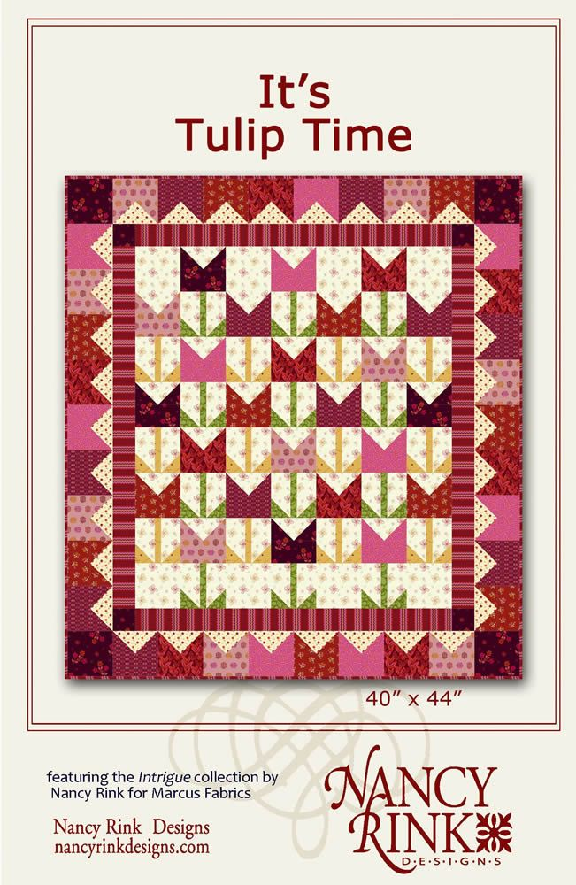 Nancy Rink Designs Its Tulip Time 40 X 44 Fat Quarter Friendly