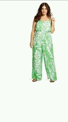 Lilly Pulitzer for Tar Women s Plus Size Satin Jumpsuit Boom