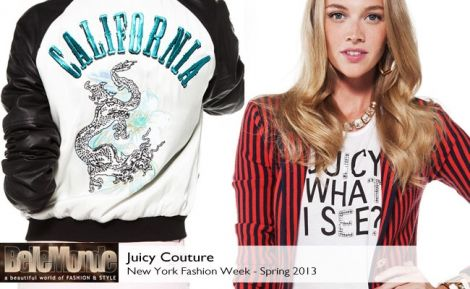 Juicy Couture Spring 2013 collection #BelleMonde #Fashion #NewYorkFashionWeek