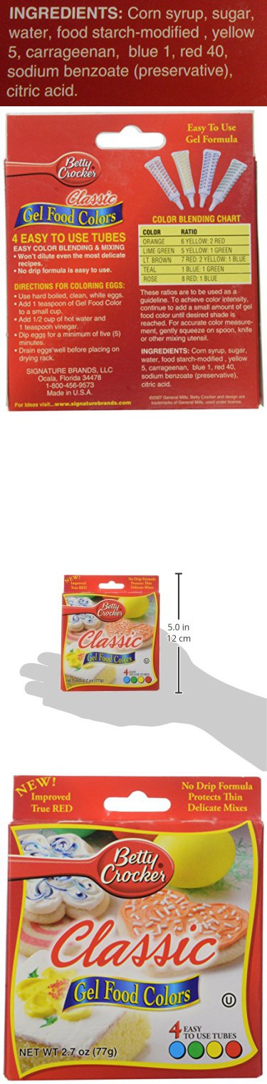 Betty Crocker Food Coloring Gel, 2.72 oz | Food Coloring ...