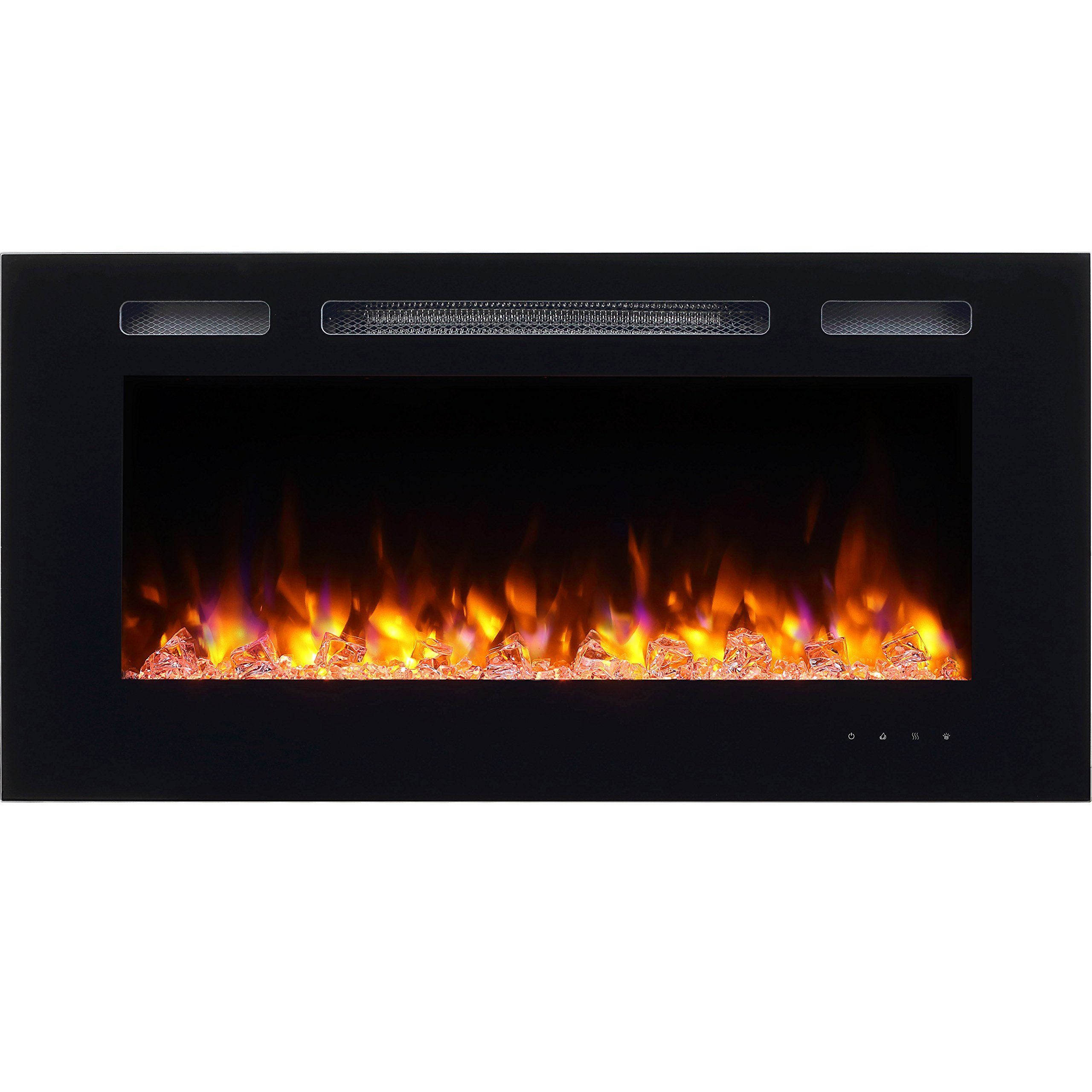 puraflame alice 40 recessed electric fireplace wall mounted for 2