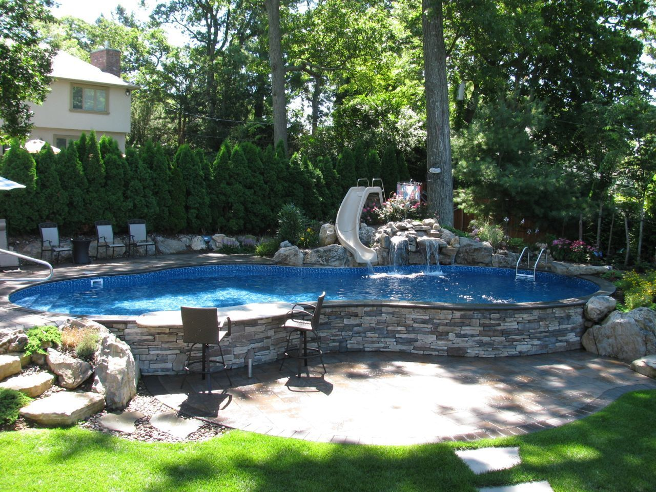 Beautiful Relaxing Swimming Pools Patio Ideas Application