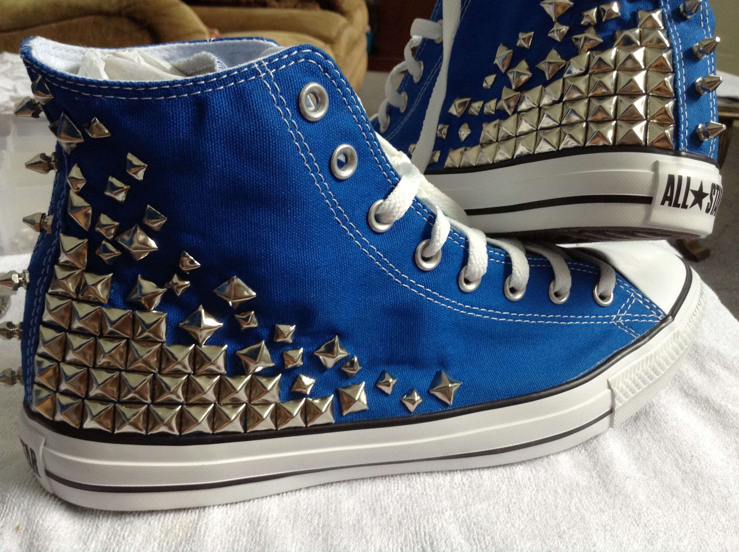spiked converse   High top sneakers