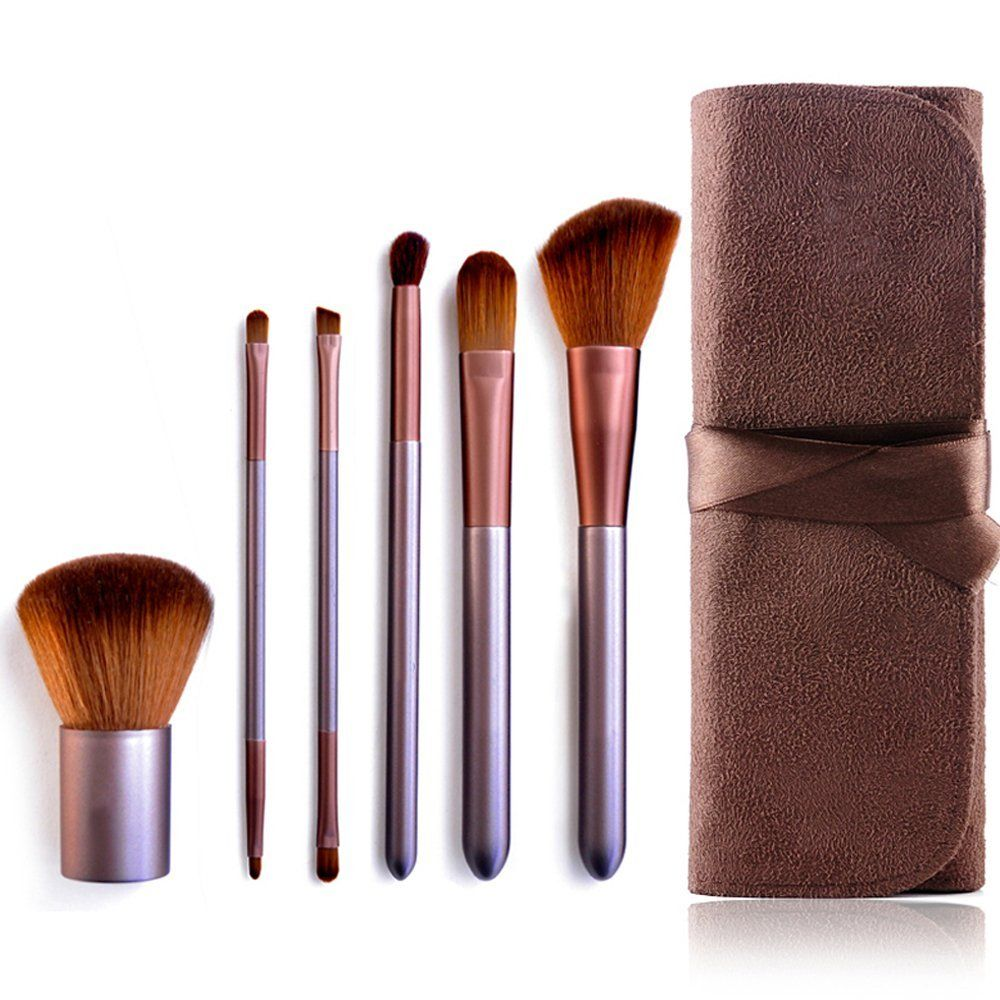 Mooxury Synthetic Kabuki Makeup Brush Set with Case