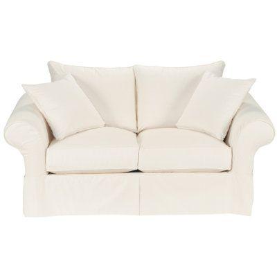 Phenomenal Vintage Vogue Loveseat Slipcover Ballard Essentials Machost Co Dining Chair Design Ideas Machostcouk