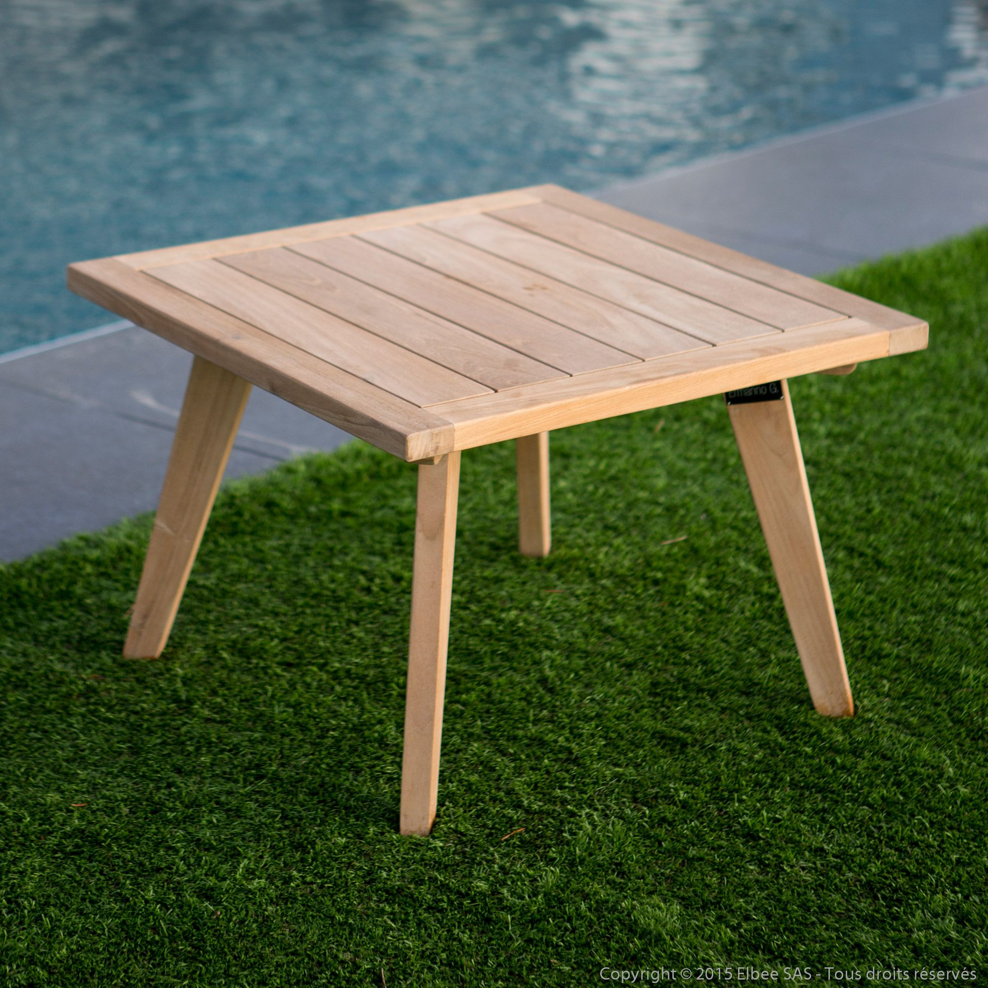 Table Basse Jardin Teck Table Basse De Jardin En Teck Brut 60x60cm Ethnika Mygarden