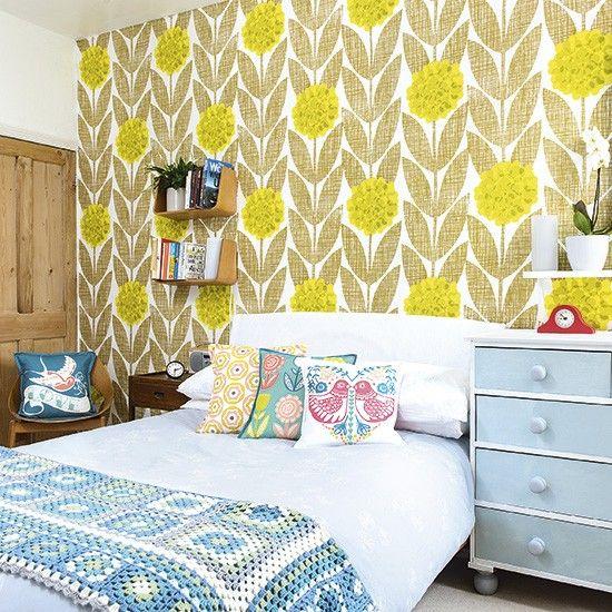 Morris Rugs Chrysanthemum China Blue | Duvet, Retro bedrooms and Walls