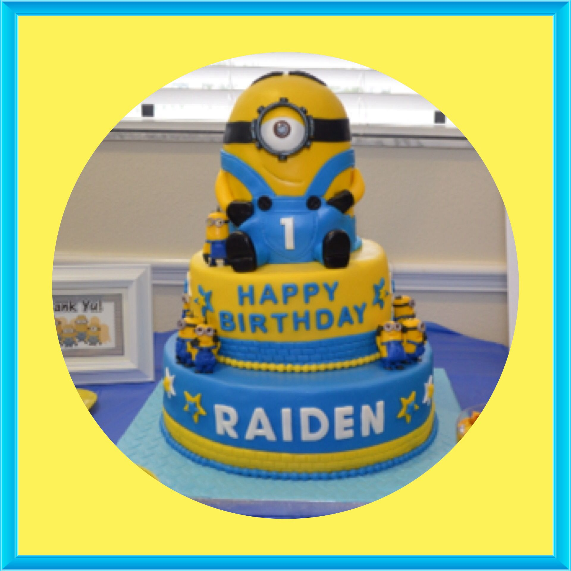 MINION CAKE Minion cake for my son 1st birthday The cake is made
