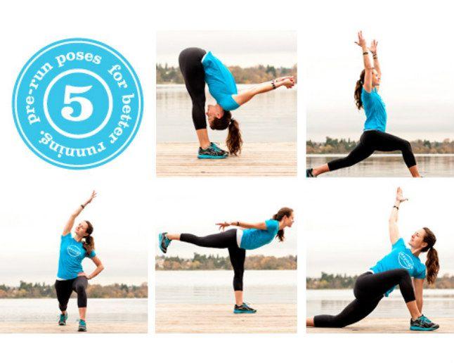 5 Pre Run Poses For Better Running Exercise Yoga Poses Running