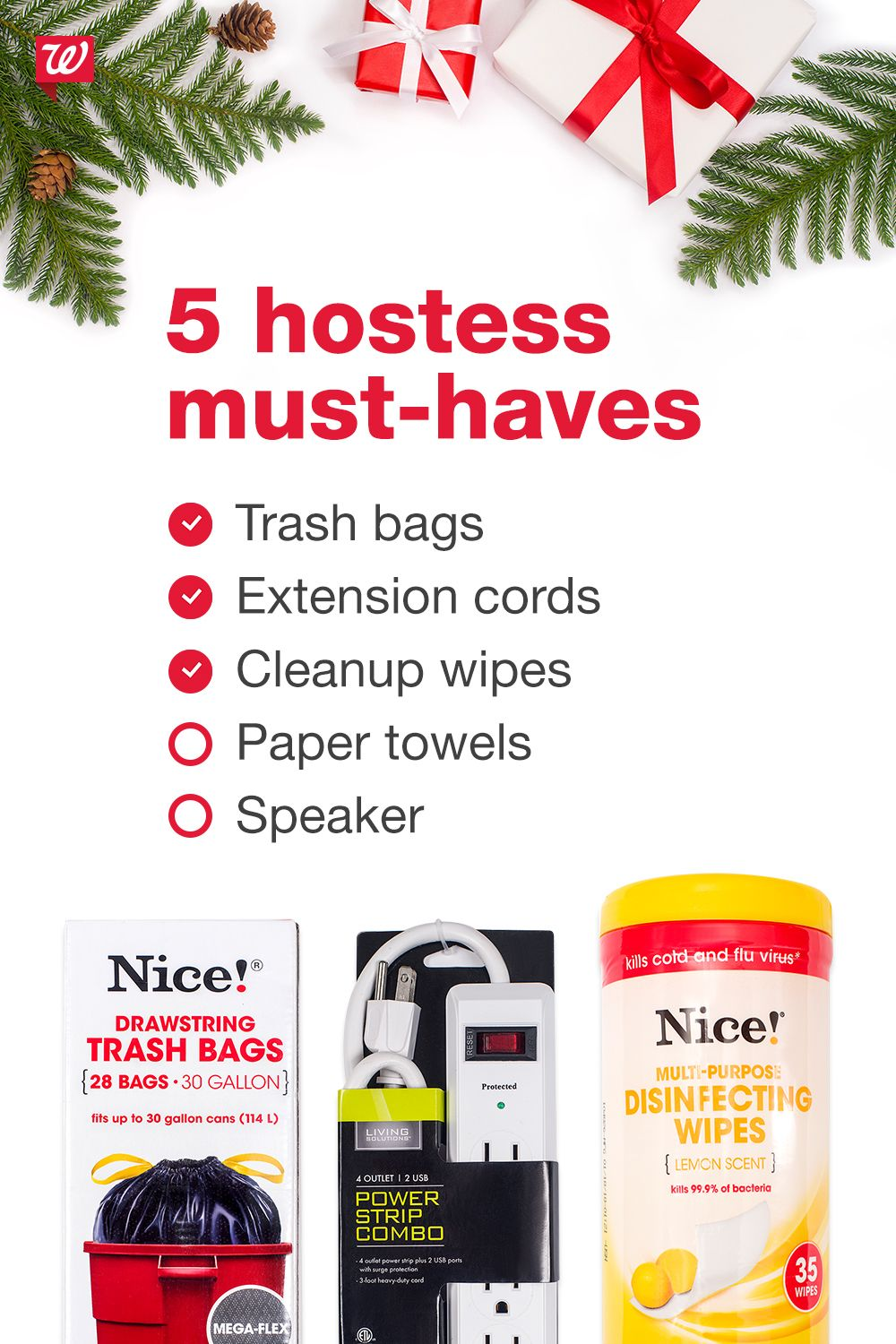For any holiday party, make sure you have these essentials