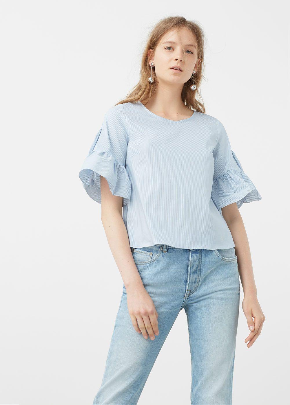 b10cdd00d Blusa de popeline - Camisas de Mulher