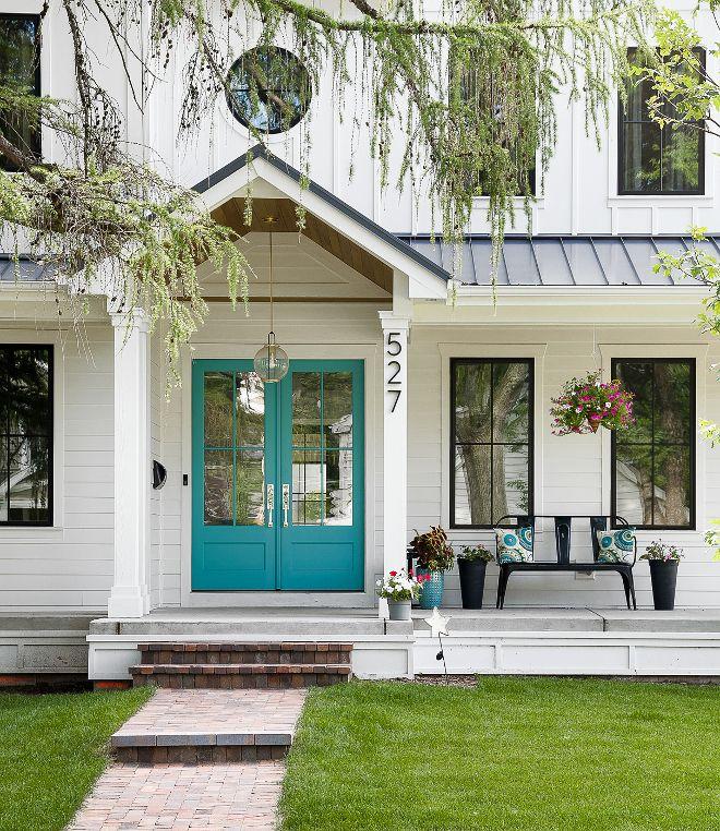 white farmhouse with wrap around porch exterior ideas pinterest