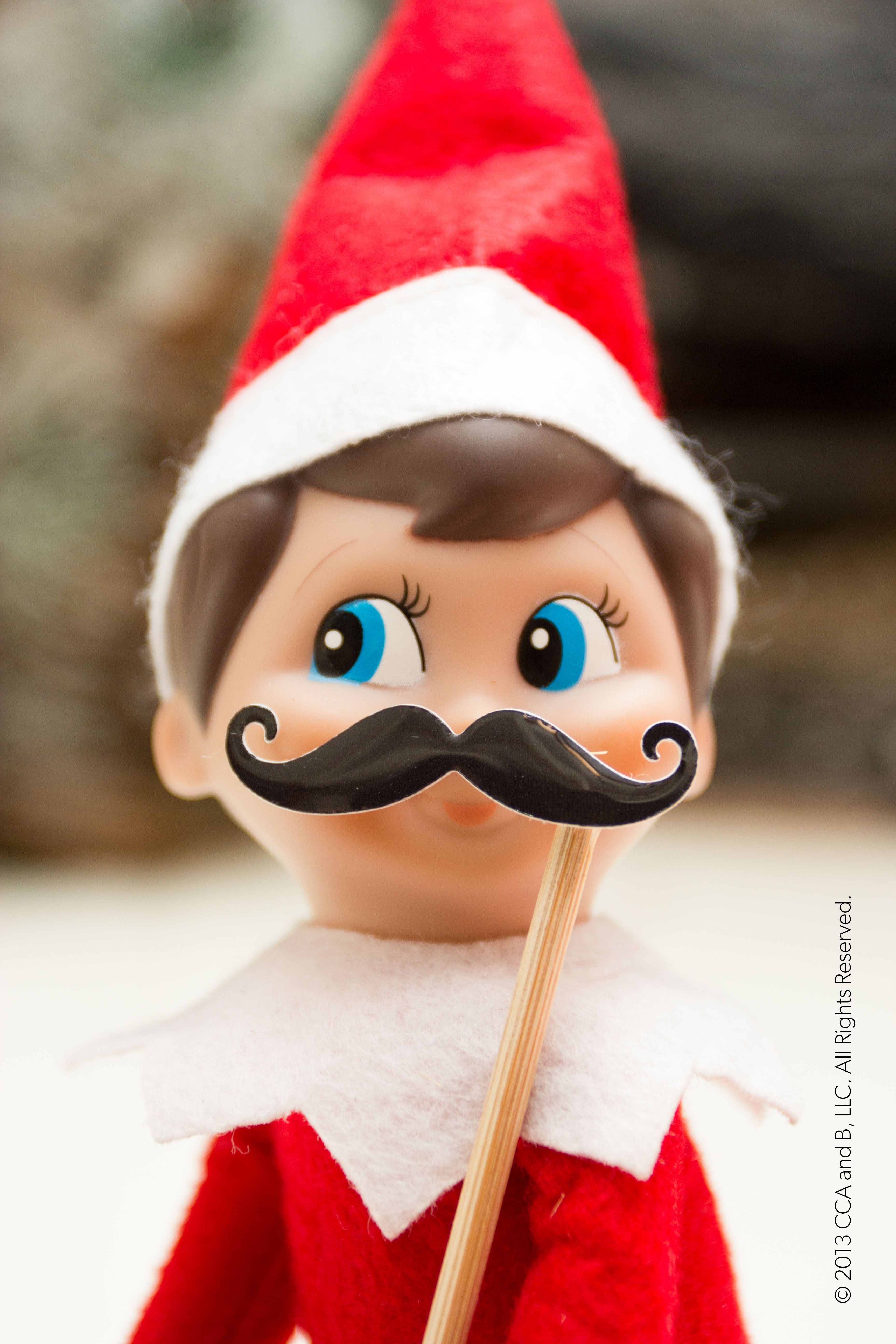A mustachioed elf Elf on the Shelf Ideas Pinterest
