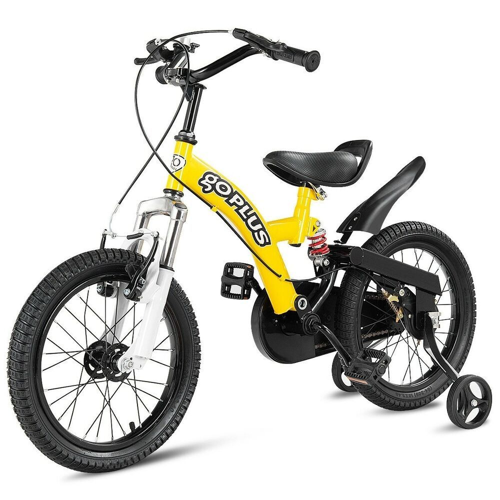 Sponsored Ebay 16 Kids Bicycle Sports Bike With Training Wheel Brakes Bike With Training Wheels Kids Bicycle Bicycle Sport