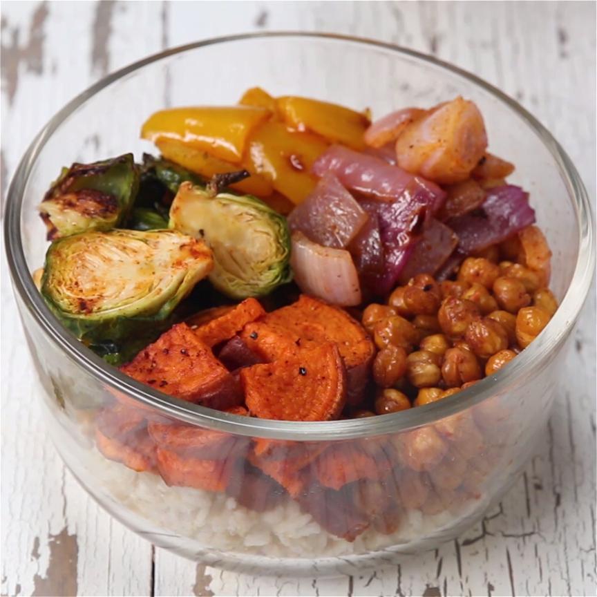 vegetarian grain bowl meal prep rezept rezepte zum vorkochen essen vorbereiten und kochvideos