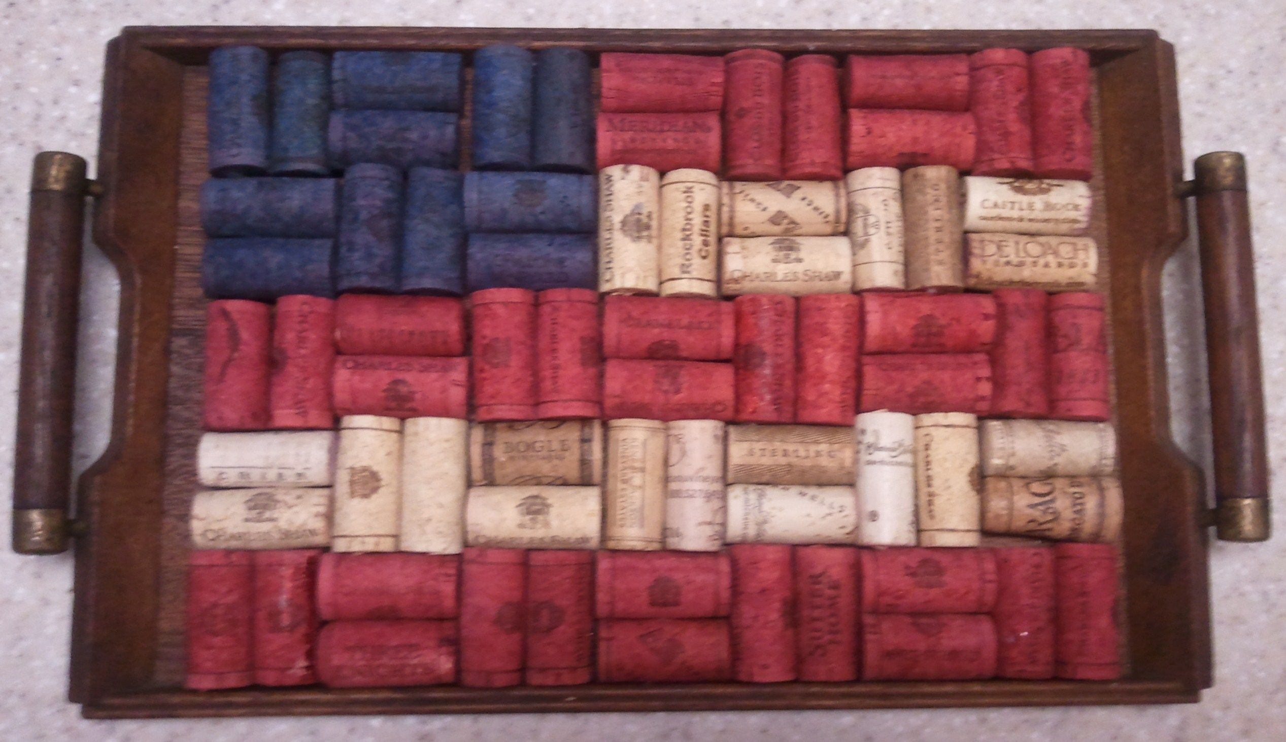 Red White And Blue Corks Recycled Wine Corks Wine Cork Crafts Cork Crafts