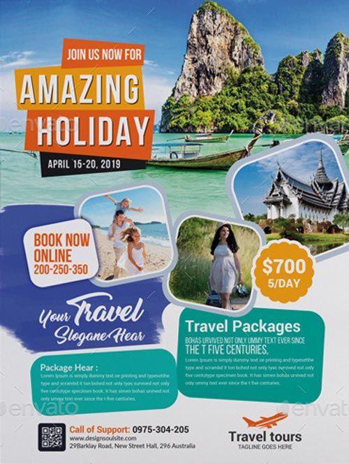 Travel Agency Business Flyer Template Travel Poster Design Travel Graphic Design Travel Advertising