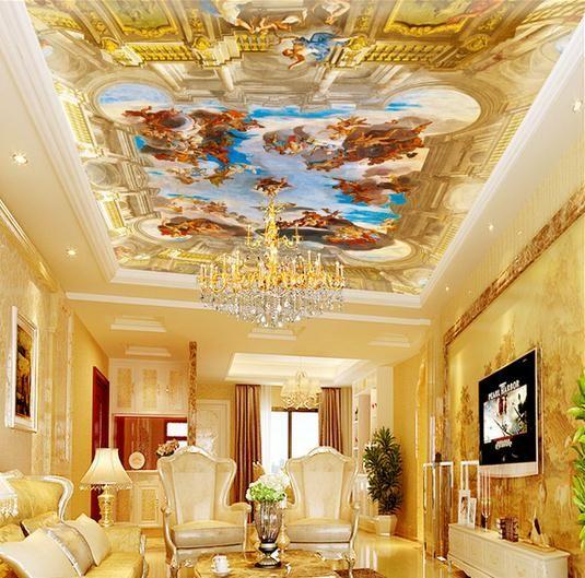 3d photo wallpaper 3d ceiling wallpaper murals European royal garden