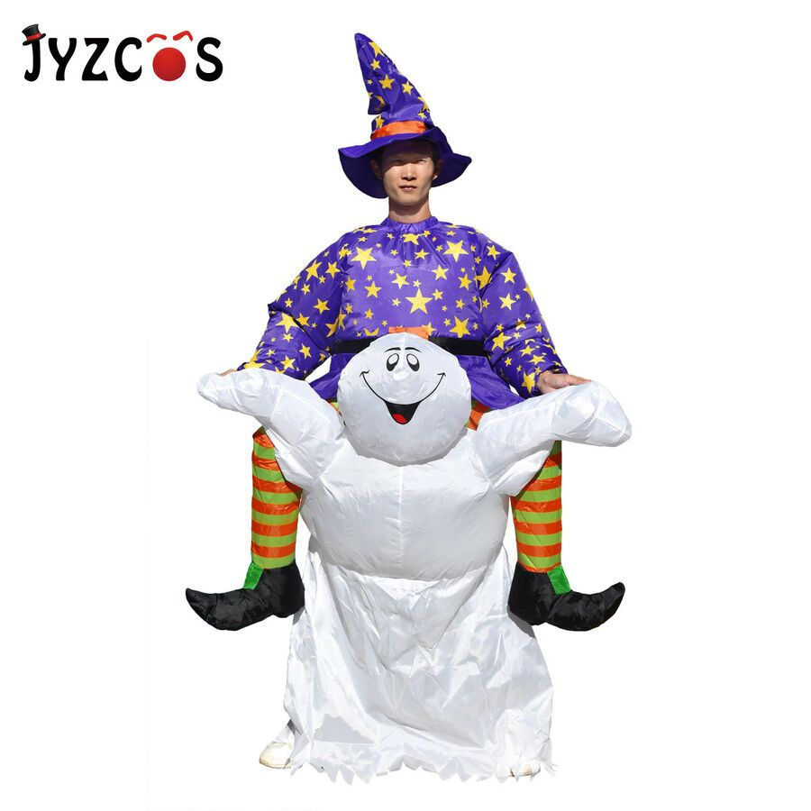 Ghost Rider Halloween Scary Costume Adult Inflatable Blow Up Suit Carnival Party#Scary#Costume# ...