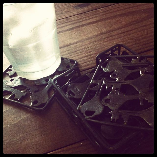 Old keys welded together to create one of a kind coasters products key crafts publicscrutiny Image collections