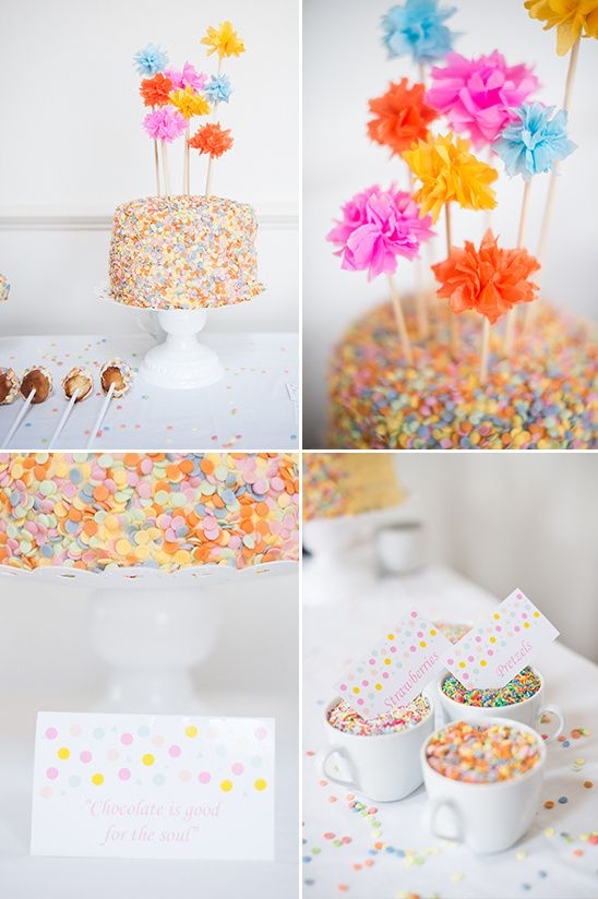 DIY Sprinkle Dessert Table Ideas | Cakes & Dessert Tables