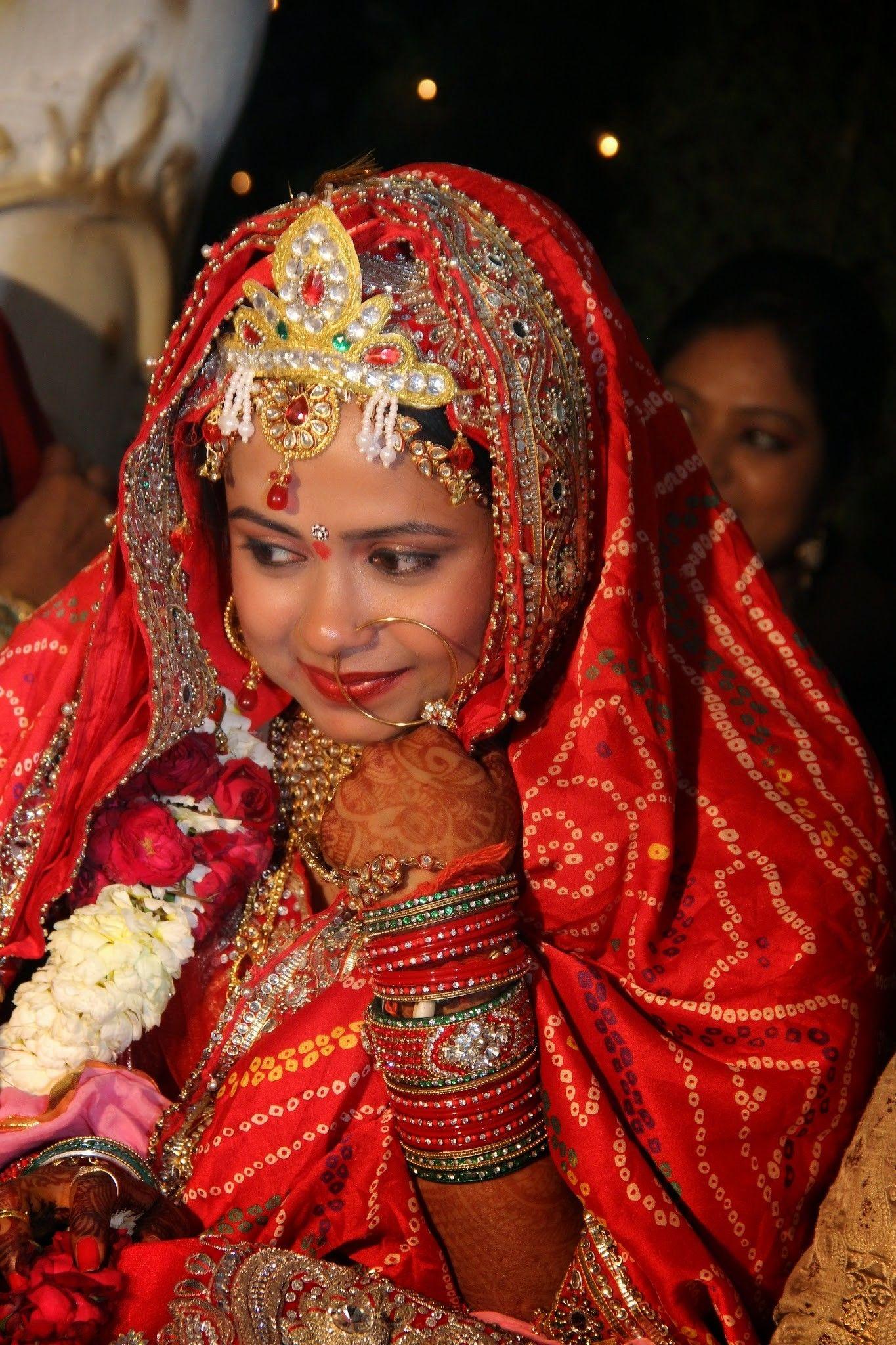 Chunari print wedding blushing bride south indian