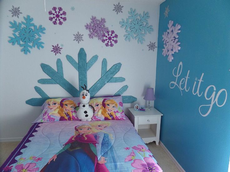 Creative Frozen Bedroom Ideas For Teens And Kids Bedroom : Kids Bedroom  Applying Frozen Bedroom Idea With Single Bed Completed With White Nightstand