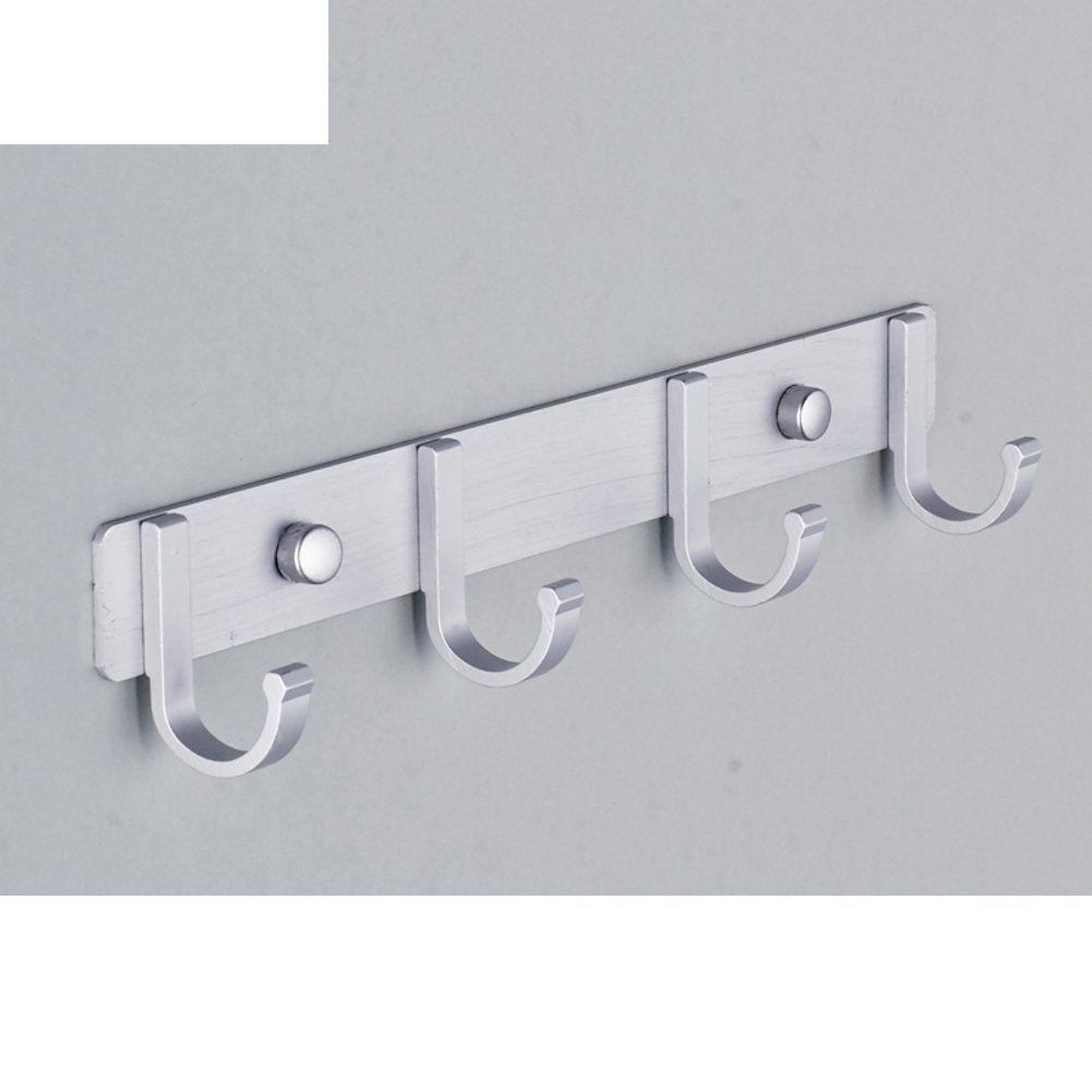 Space Aluminum Pegs Hook Bathroom Accessories Clothes Hook Coat Hook Wall Hanging Behind The Door Row Diy Home Improvement Bathroom Accessories Clothes Hooks