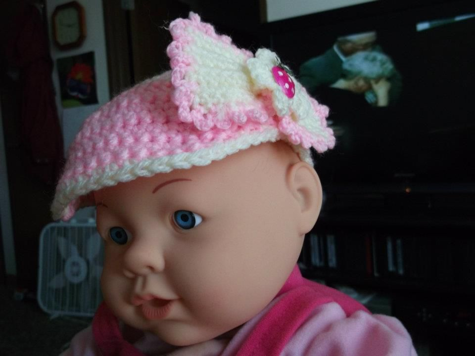 Baby Visor With Bow