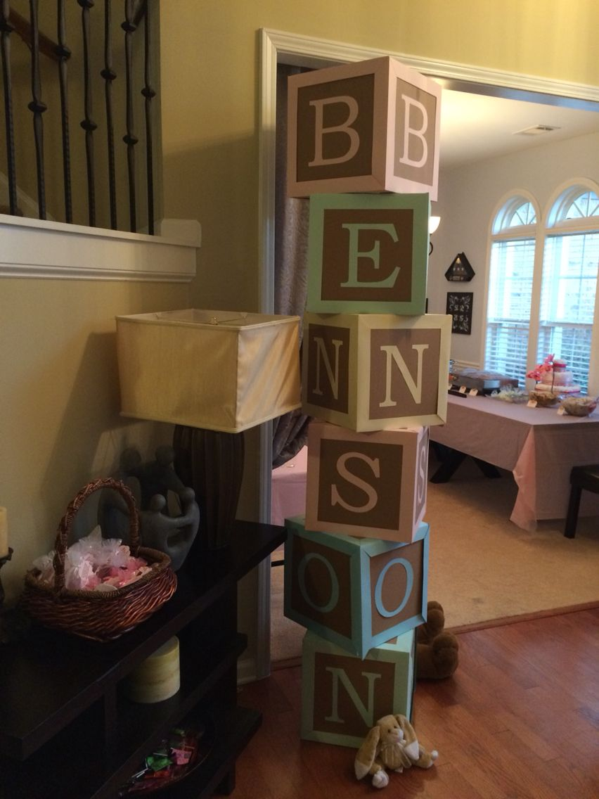 Baby Blocks Party Props Baby Shower Fall Baby Boy