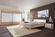 Schlafzimmer LA VIDA in Eiche Sägerau Nachbildung und Lack Weiß ...