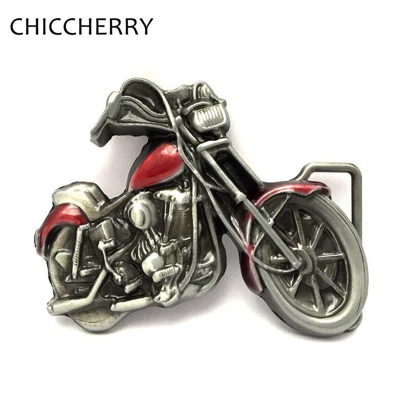 3D Motorcycle Chopper Metal Belt Buckle