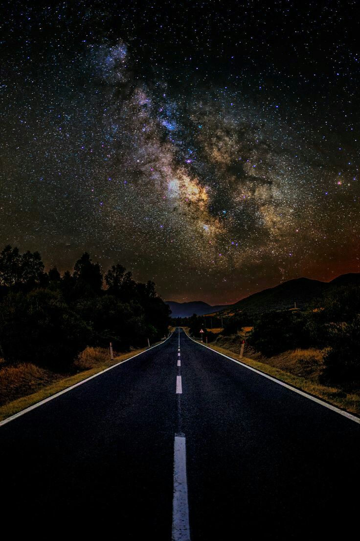 Milky way road by luca libralato nature nature road - Space wallpaper road ...